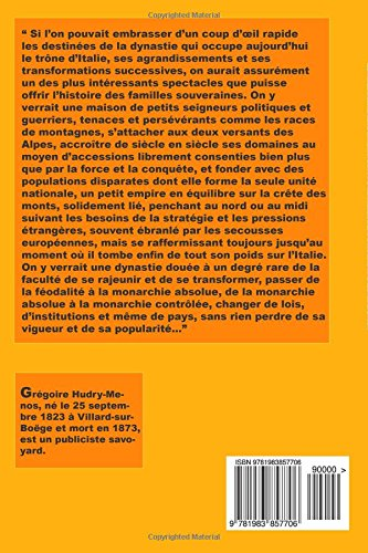 Telecharger La Maison de Savoie: Ses origines et sa politique de Gr�goire Hudry-Menos