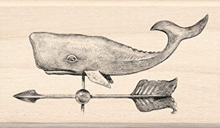 Nautical Weathervane Wood Stamp