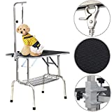 Goplus® 35''x30'' Large Portable Pet Dog Cat Grooming Table Dog Show W/ Mesh Tray