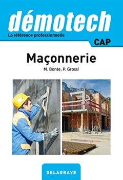 Livres Couvertures de Demotech Maçonnerie CAP - édition 2016