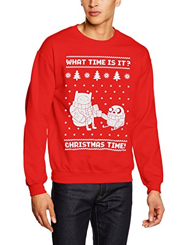 Adventure Time Herren Sport Pullover Christmas