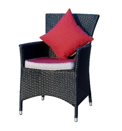 Ambientehome 63456AM Sessel Prince Lotus Polyrattan, schwarz
