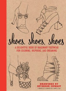 Shoes, Shoes, Shoes: A Delightful Book of Imaginary Footwear for Coloring, Decorating, and Dreaming by Carol Chu| wearewordnerds.com