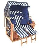 Strandkorb Binz blau kariert