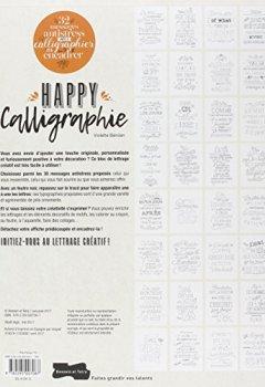 Livres Couvertures de Happy calligraphie : 32 messages antistress prêts à calligraphier et à encadrer