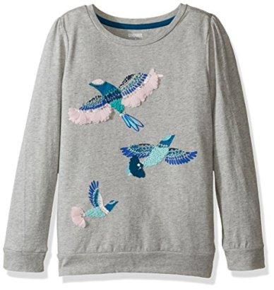 Gymboree-Little-Girls-Long-Sleeve-Gray-Bird-Print-Graphic-Tee-Cozy-Heather-6