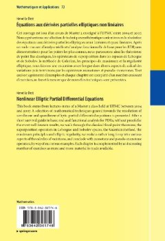 Livres Couvertures de Équations aux Dérivées Partielles Elliptiques non Linéaires (Mathématiques et Applications) (French Edition)
