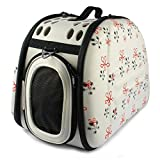 Pet Artist® Soft-sided Portable Puppy Doggie Kitten Carrier,Beige Small Medium Cat Dog Crate or Luggage for Travel Outdoor