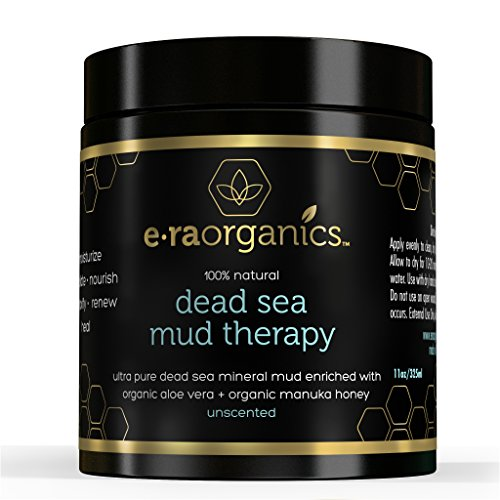 Organic Dead Sea Mud Mask (11oz) Spa Quality Facial Mask Enriched with Aloe Vera, Shea Butter, Manuka Honey and Hemp Oil for Extra Moisturizing and Healing Power • Treat Acne, Cleanse and Minimize Pores, Remove Blackheads and Reduce Wrinkles • Sooth, Moisturize, Detoxify and Exfoliate to Leave Healthier, Softer Skin. Also Available in Pink Grapefruit Mint.