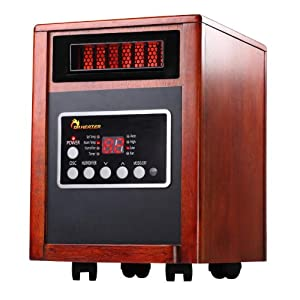Dr Heater Portable Quartz + PTC Infrared Space Heater - 1500W, Dual Heating System, UL Listed.