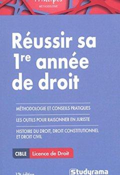Livres Couvertures de Reussir sa 1re année de droit