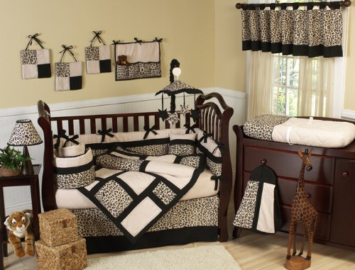 Cheetah leopard Print Crib Bedding