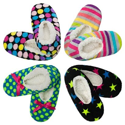 4pk-Womens-Warm-Cozy-Feet-Fuzzy-Slippers-Non-Slip-Lined-Socks-Booties-Indoor