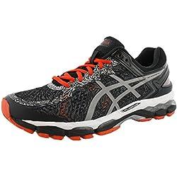 ASICS Men's Gel Kayano 22 Lite Show Running Shoe, Carbon/Silver/Cherry Tomato, 12 M US