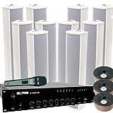 Elektroakustische Anlage (ELA) Beschallung Wartezimmer Arztpraxis Kirchenbeschallung mit 10 Boxen ELA-1