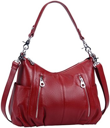 Heshe-Womens-Handbags-Shoulder-Cross-Body-Totes-Bags-Purses-for-Ladies-Maroon-H