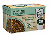 Special Tea Blue Lady Earl Grey Green and Rooibos Tea Single Serve Cups, 30 Gram