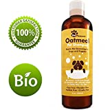Oatmeal Pet Shampoo for Dogs & Puppies - Best All Natural Doggy Shampoo & Conditioner for Itchy and Dry Skin - Medicated Strength Deodorizer - 8 oz