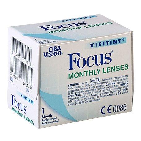 CIBA Vision, Focus Visitint monthly, Packung mit 6 Kontaktlinsen, Stärke frei wählbar (BC 8.90 oder 8.60 / Dia 14.0mm)