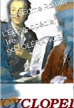 Livres Couvertures de L'Encyclopédie, 1re éd.TOLÉRANCE
