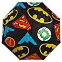 BioWorld Unisex Justice League Logo Print Compact Umbrella, Black