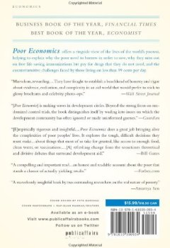 Livres Couvertures de Poor Economics: A Radical Rethinking of the Way to Fight Global Poverty