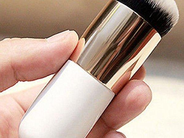 Generic Makeup Cosmetic Face Powder Blush Brush, White & Golden