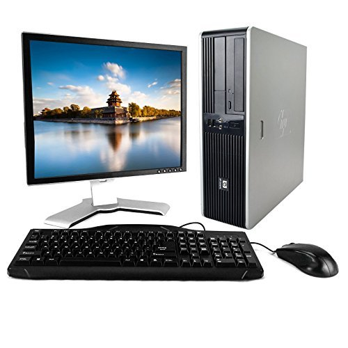 "HP Desktop Core 2 Duo 3.00GHZ 4GB 1TB DVD Windows 7 PRO 64 Bit , WIFI ,19"" LCD"