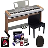 Yamaha DGX-640C Digital Piano BUNDLE w/ Furniture Stand & Pedal Board