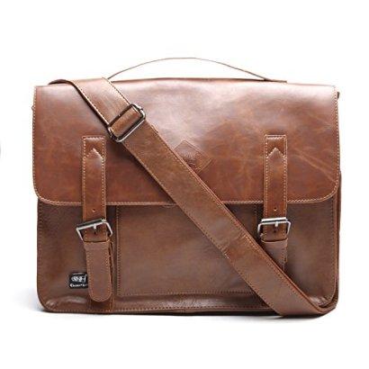 Men-Vintage-PU-Leather-Briefcase-Laptop-Shoulder-Messenger-Bag-Zebella