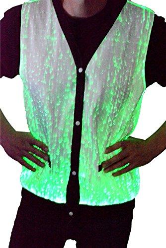 TrYptiX Men's Fiber Optic Light Up Vest