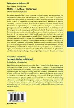 Livres Couvertures de Modèles et Méthodes Stochastiques: Une Introduction Avec Applications (Mathématiques et Applications) (French Edition)