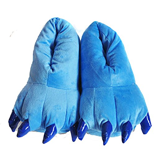 LifeJoy Paw Slippers Cartoon Animal Cosplay Slippers Paw Claw Shoes (Blue)