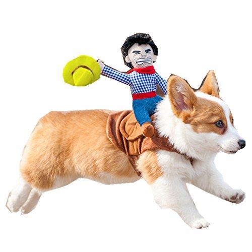 Tirain Pet Costume Dog Novelty Cowboy Dress Up (S/M/L)