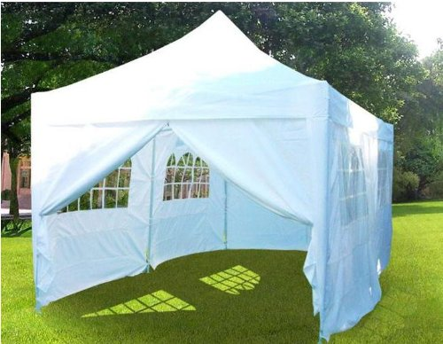 10x20' EZ Pop Up Canopy Gazebo Party Wedding Tent White