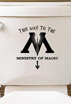 Livres Couvertures de Level 33 Ltd Sticker pour toilettes Harry Potter «Ministry Of Magic» [en langue étrangère]