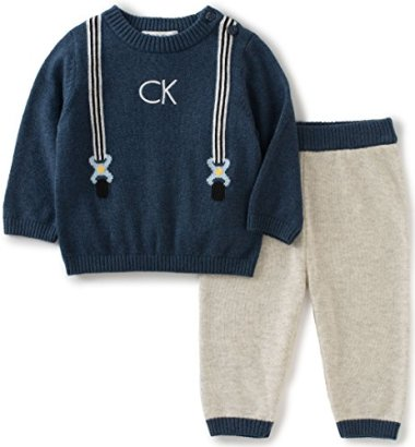 Calvin-Klein-Baby-Sweater-With-Pants-Set-Navy-3-6-Months