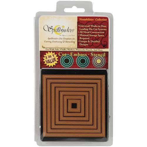 Spellbinders S4-126 Nestabilities 7-Piece Concentric Die Template, Large Classic Square