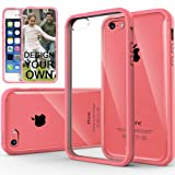Caseology Apple iPhone 5C [Premium Fusion Series] - Slim Fit Hybrid Scratch-Resistant Clear back thin Cover with Shock Absorbent TPU Protector Bumper Case (Pink) [Made in Korea] (for Verizon, AT&T Sprint, T-mobile, Unlocked)