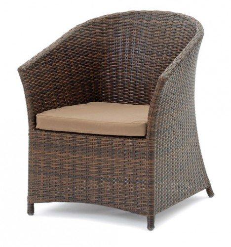 Belardo MINOIS Sessel Lounge Gartensessel aus Kunstfasergeflecht inklusive Auflage Braun