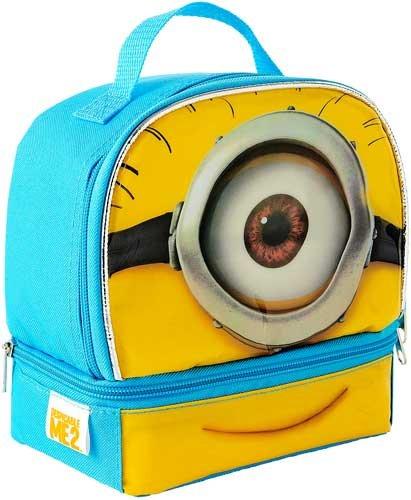 Despicable Me 2 Minion Stuart Dual Compartment Children's School Lunchbox