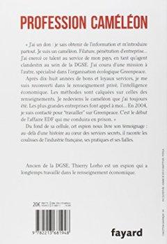 Livres Couvertures de Profession Caméléon: De la DGSE à l'Intelligence économique