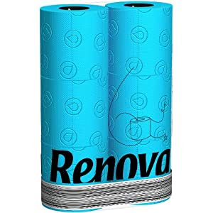 Renova türkis blaues Toilettenpapier in Folie BLAU