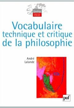 Livres Couvertures de Vocabulaire technique et critique de la philosophie
