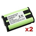 eForCity 2 x Phone Battery For Panasonic HHR-P104 HHR-P104A for $6.14 + Shipping