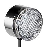LED Unterwasser-leuchte aus rostfreiem Edelstahl mit 12 weißen LEDs von parlat (12 Volt AC, IP68, Wasserdicht, Leuchte für Außen, Outdoor, Wandleuchte, Energiesparlampe, Strahler, Aufbauleuchte, Aquariumleuchte, Teich, Poolbeleuchtung, 12V)
