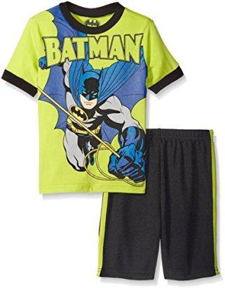 Batman-Toddler-Boys-2pc-Top-and-Short-Set-Green-5T
