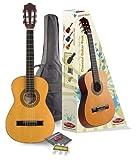 Klassik- Kindergitarre 1/2 Größe von 6 - 10 Jahre mit Lindendecke Natural incl. Zubehör