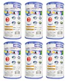 Intex 59900E-6 Easy Set Pool Replacement Type A or C Filter Cartridge, 6-Pack