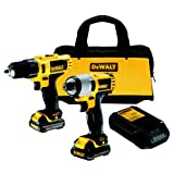 51Y8oENUpfL. SL160  - BEST BUY #1 DeWalt DCK211S2 10.8V Subcompact Combo Drill Plus Impact Driver in Kitbag